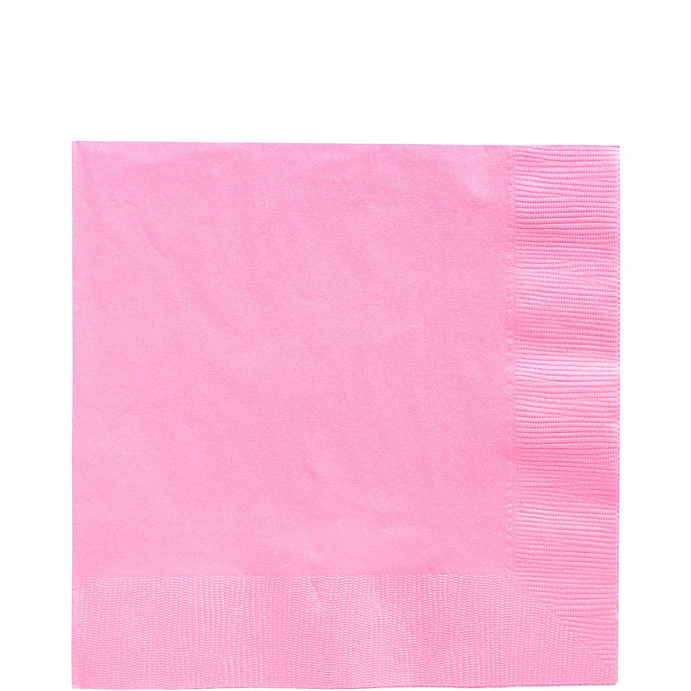 Pink Plastic Tableware Kit for 20 Guests Image #5