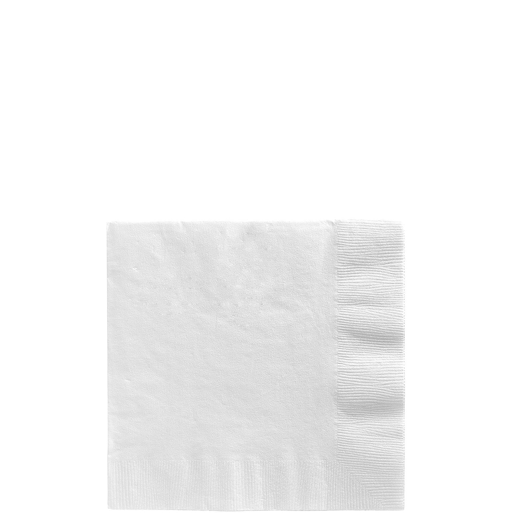 CLEAR & White Plastic Tableware Kit for 20 Guests Image #4