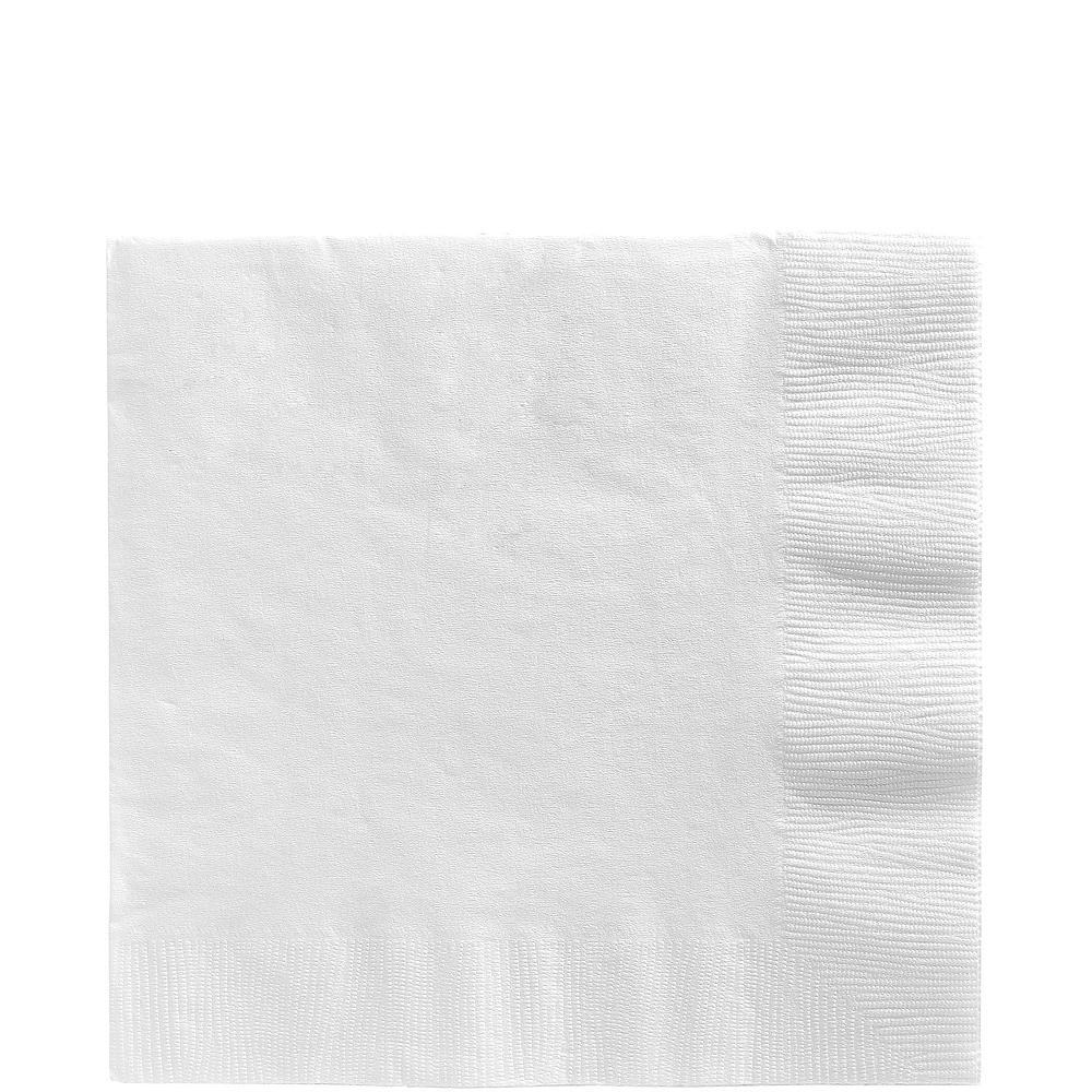 CLEAR & White Plastic Tableware Kit for 20 Guests Image #5