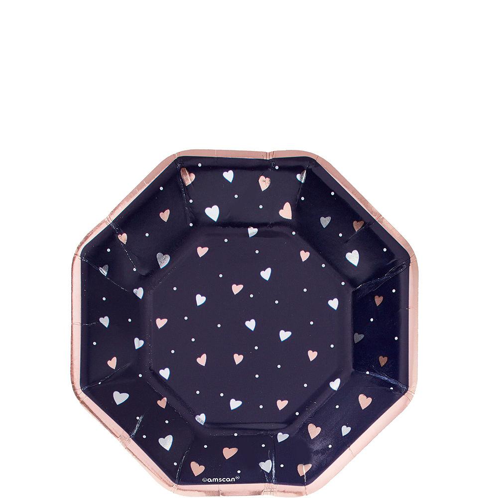 Navy & Rose Gold Bridal Shower Tableware Kit for 32 Guests Image #2