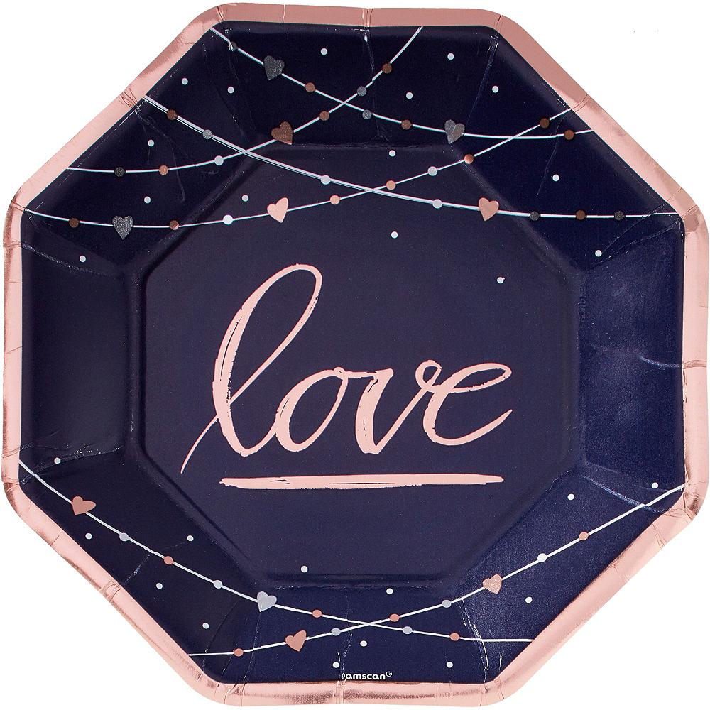 Navy & Rose Gold Bridal Shower Tableware Kit for 32 Guests Image #3