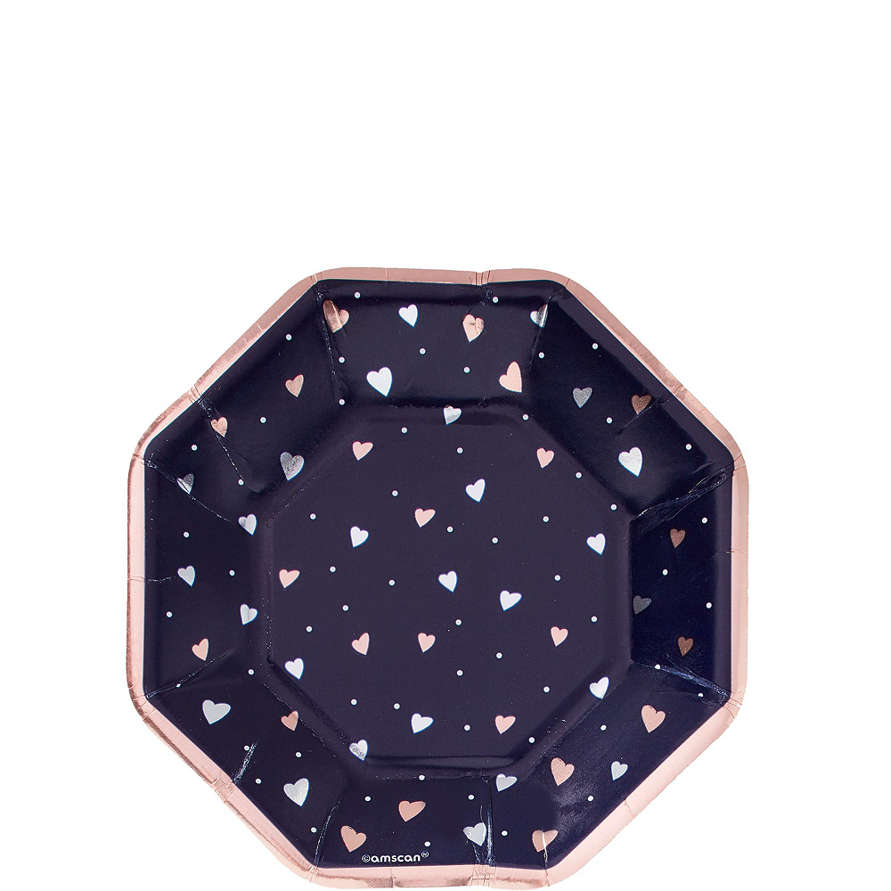 Navy & Rose Gold Bridal Shower Tableware Kit for 50 Guests Image #2