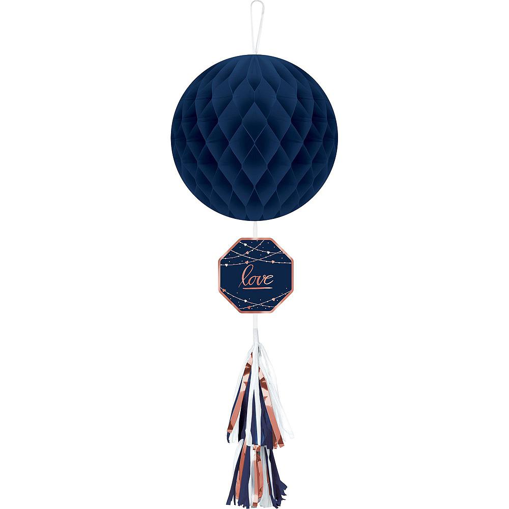 Navy & Rose Gold Premium Bridal Shower Tableware Kit for 32 Guests Image #8