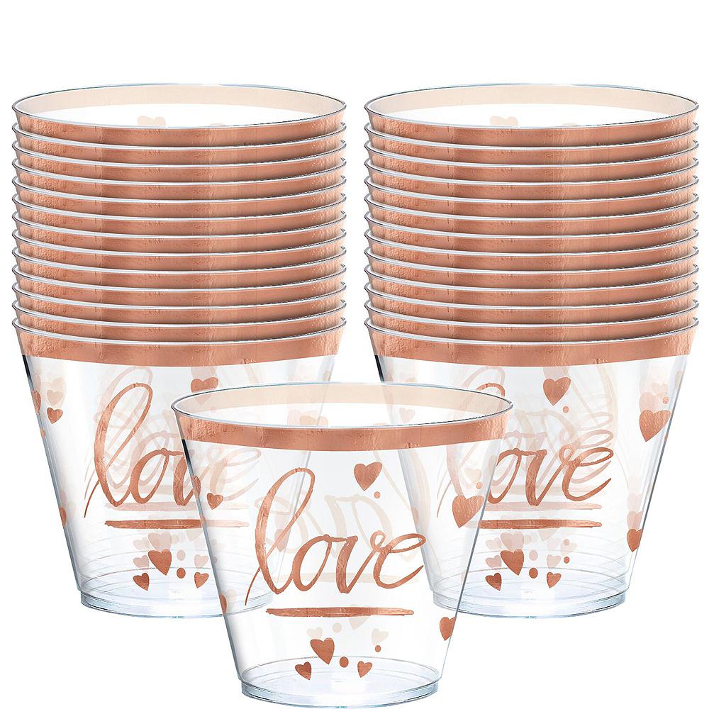 Navy & Rose Gold Premium Bridal Shower Tableware Kit for 32 Guests Image #16