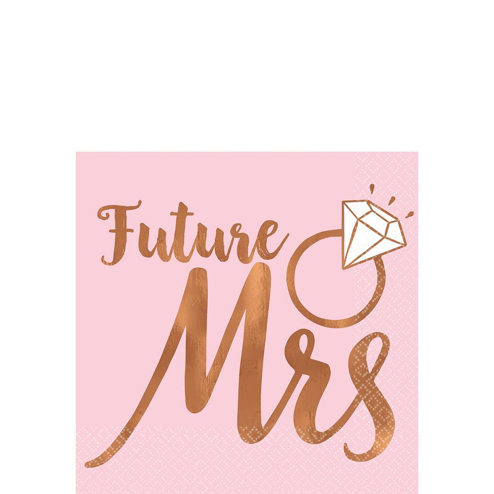 Blush Rose Premium Bridal Shower Tableware Kit for 32 Guests Image #5