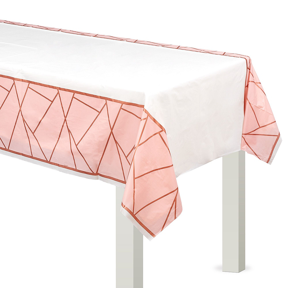 Blush Rose Premium Bridal Shower Tableware Kit for 32 Guests Image #7