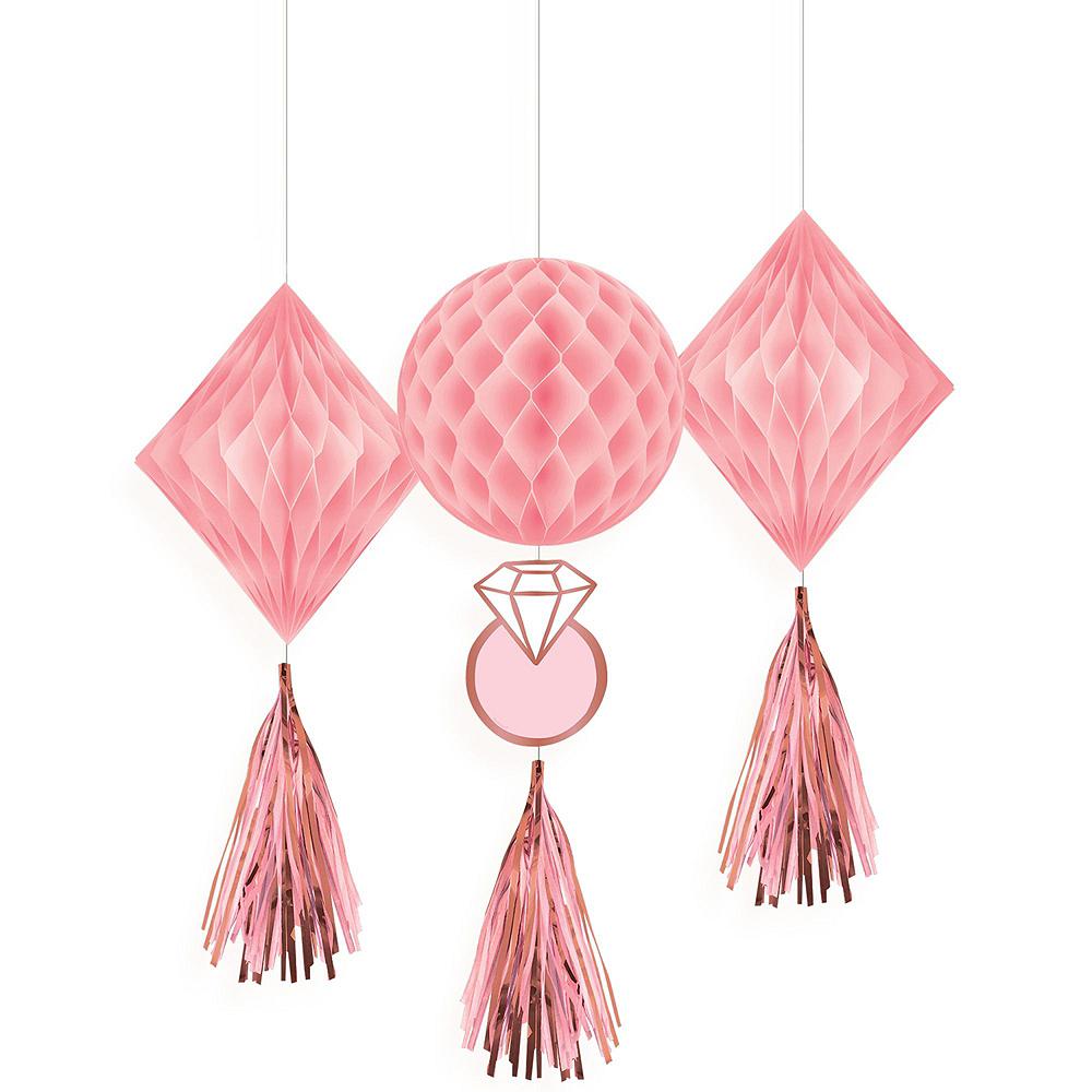 Blush Rose Premium Bridal Shower Tableware Kit for 32 Guests Image #10