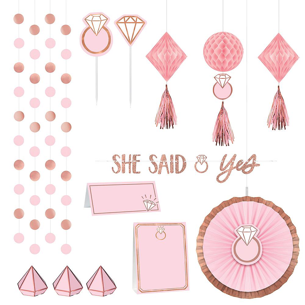 Blush Rose Bridal Shower Table Decorating Kit 23pc Image #1