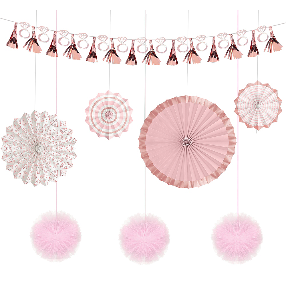 Blush Rose Bridal Shower Decorating Kit 11pc Image #1