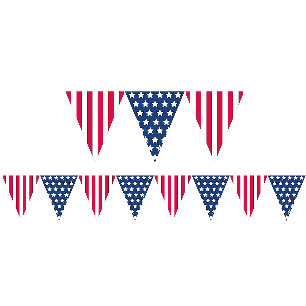 Patriotic American Flag Front Door Decorating Kit 4pc Image #2