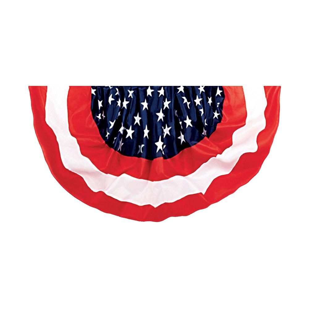 Patriotic American Flag Bunting & Bows Decorating Kit 10pc Image #3