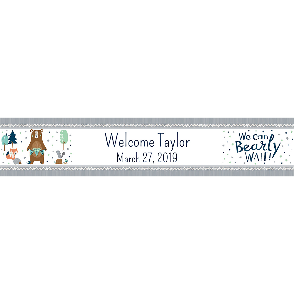 Custom Can Bearly Wait Table Runner Image #1