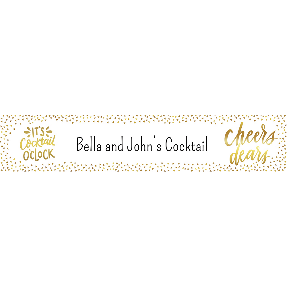 Custom Cocktail Party Table Runner Image #1