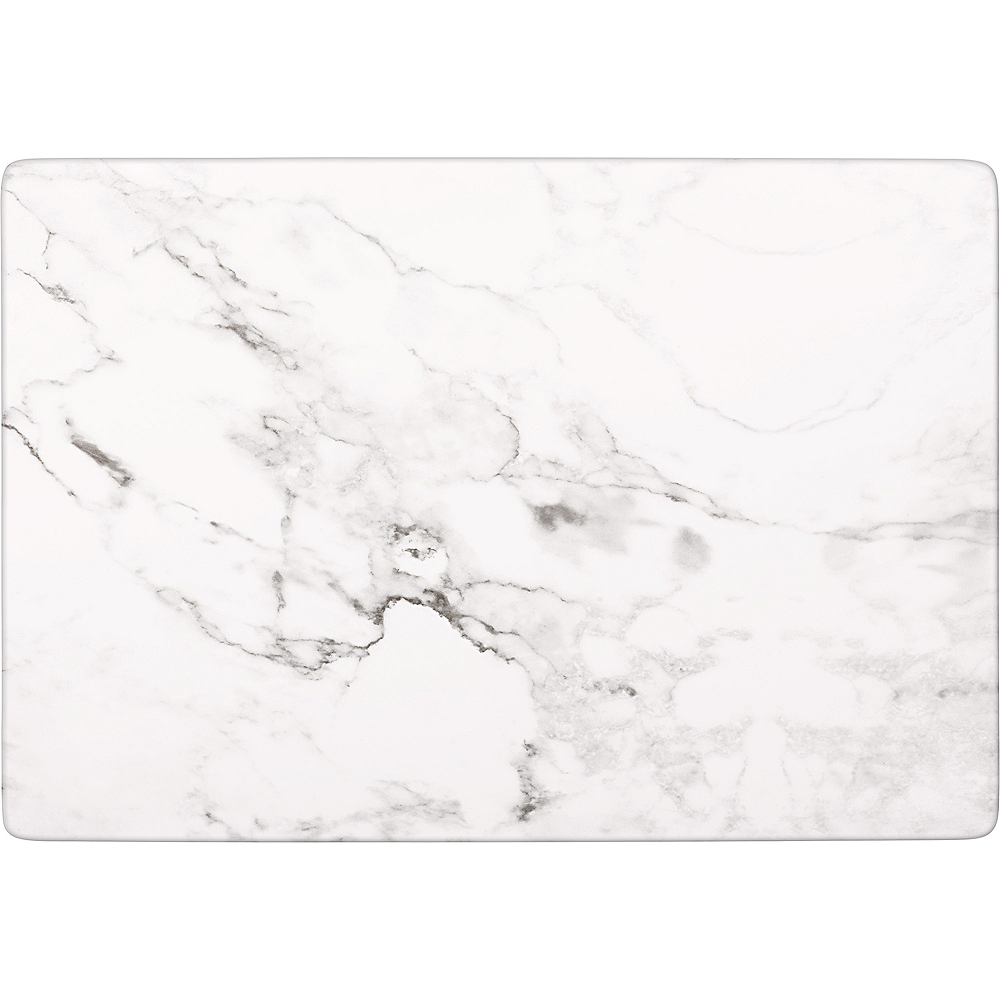 Faux White Marble Melamine Rectangular Cheese Board Image #1