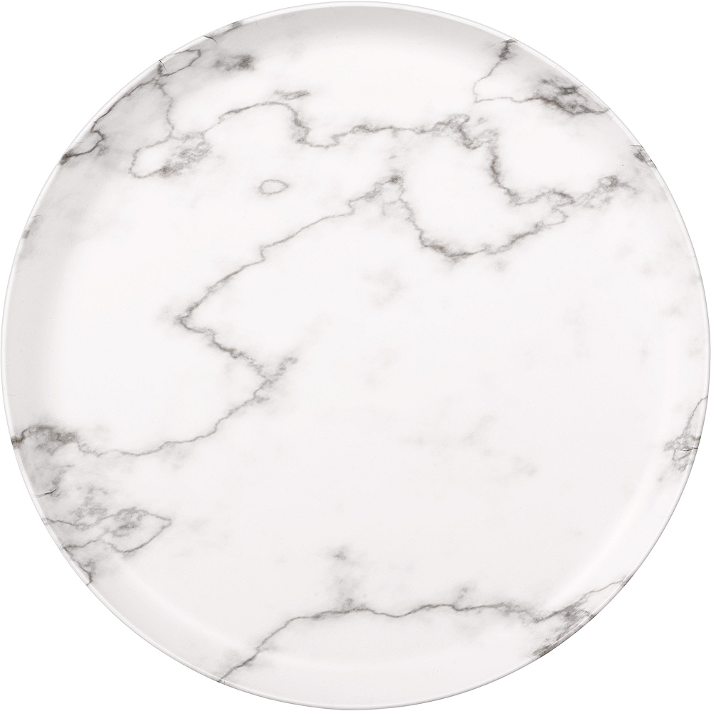 Nav Item for Faux White Marble Melamine Round Cheese Board Image #1