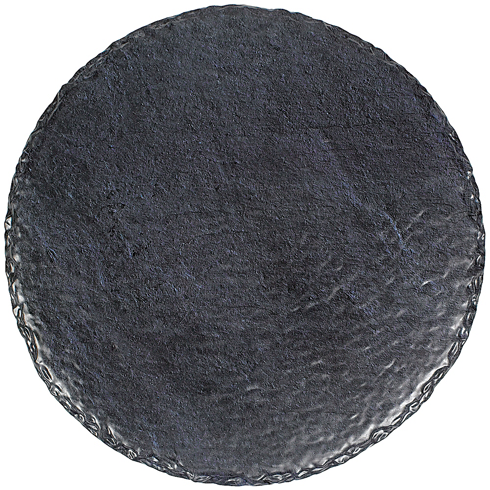 Faux Black Slate Melamine Round Cheese Board Image #1