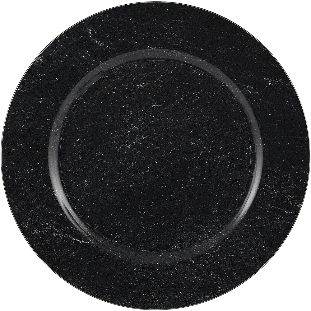 Nav Item for Black Slate Plastic Charger Image #1