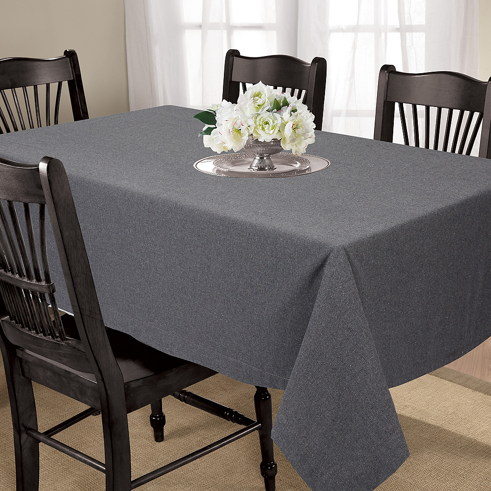 Gray Fabric Tablecloth Image #2