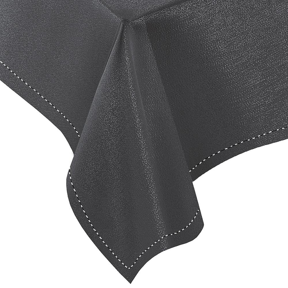 Gray Fabric Tablecloth Image #3