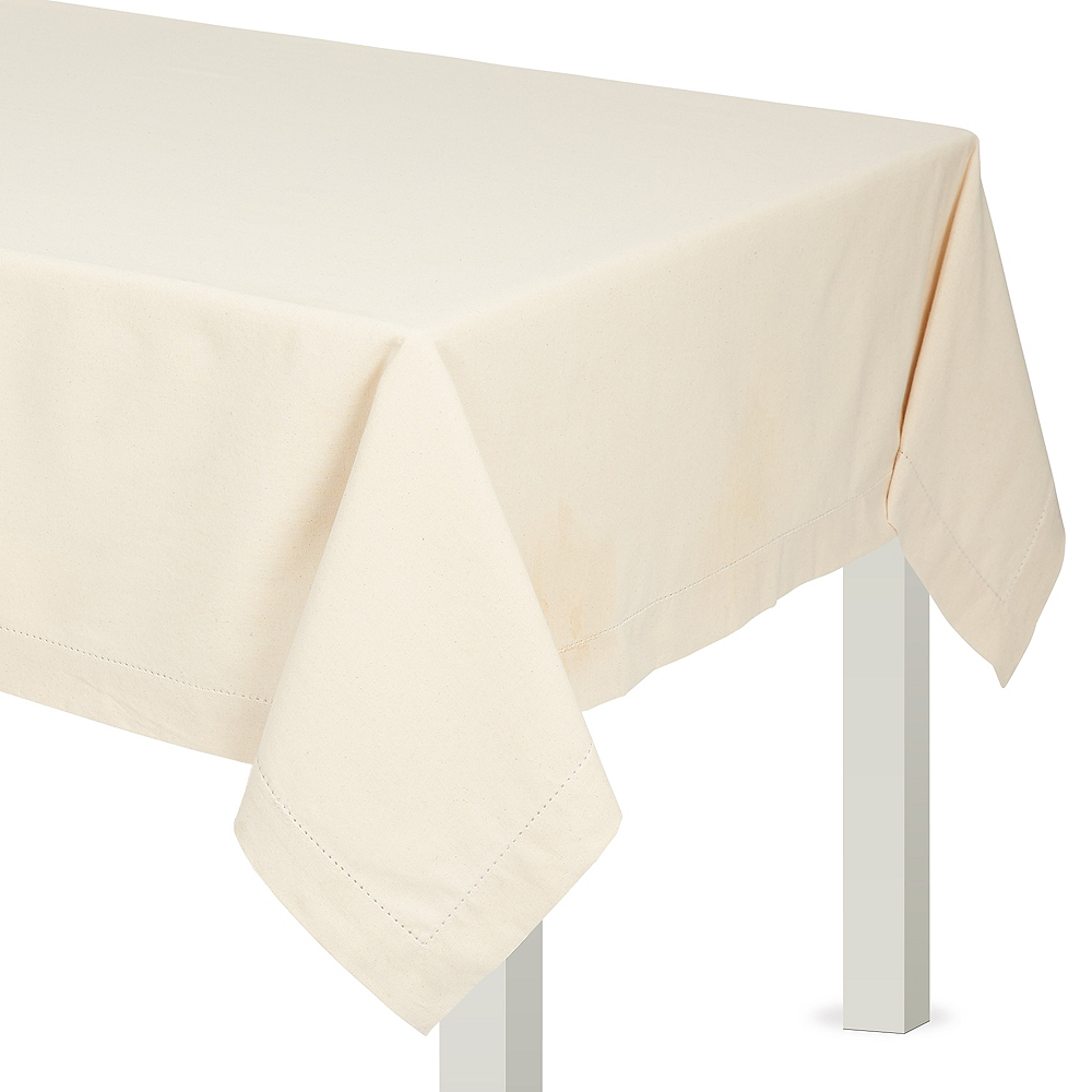 Nav Item for Cream Fabric Tablecloth Image #1