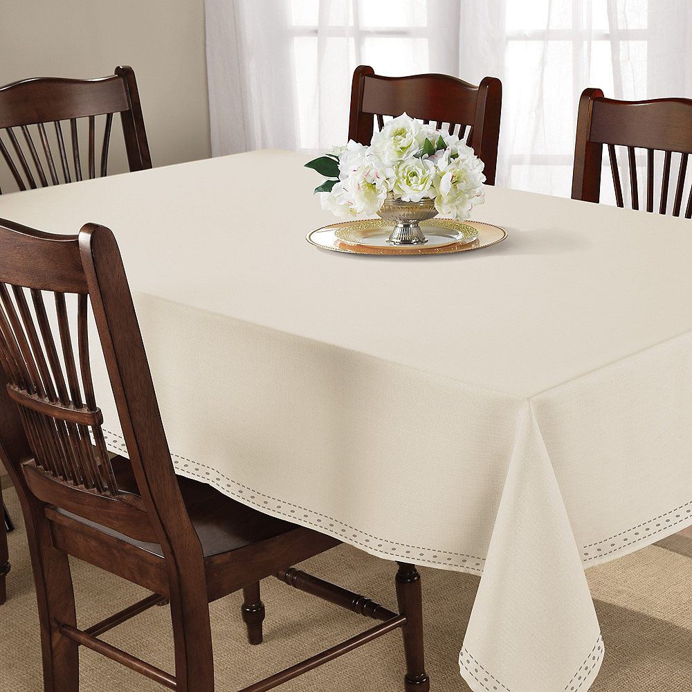 Cream Fabric Tablecloth Image #2