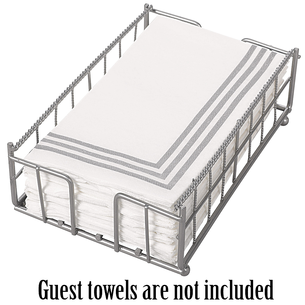 Silver Guest Towel Caddy 5in X 8 3 4in Party City