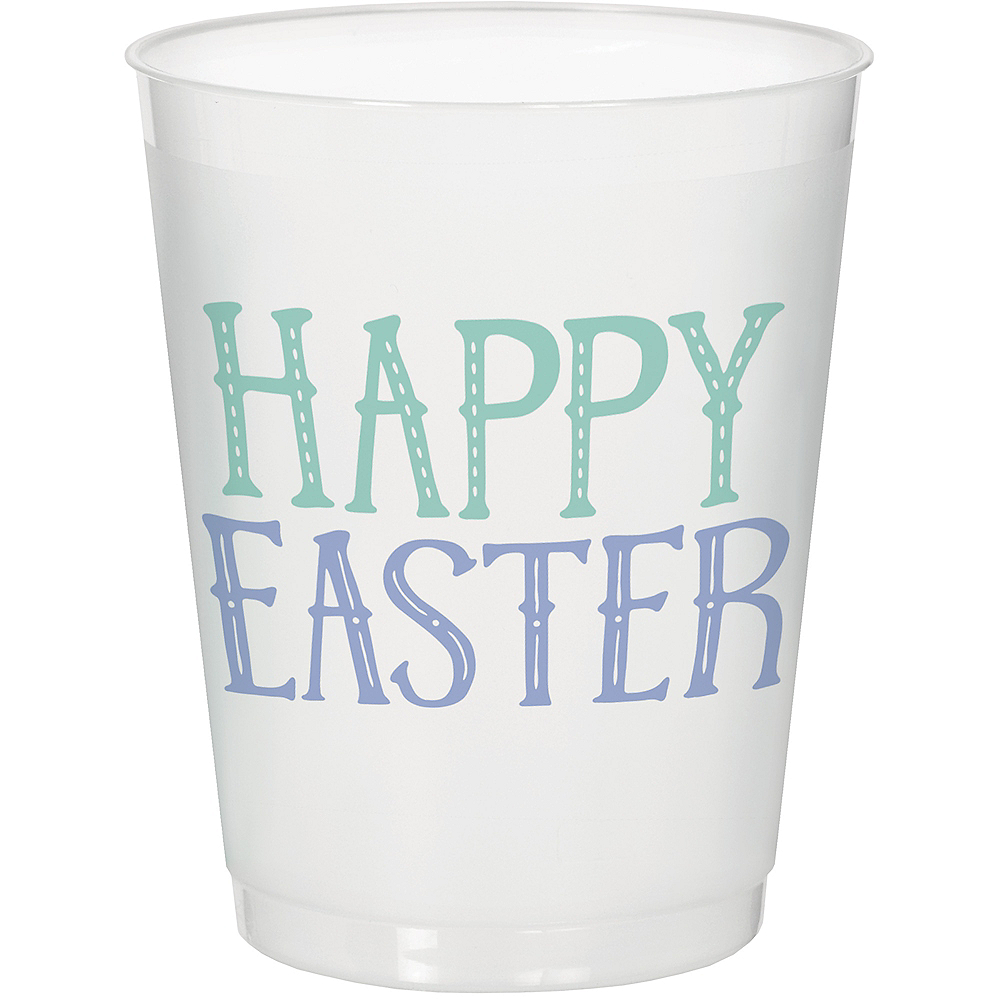 Happy Easter Frosted Stadium Cups 8ct Image #1