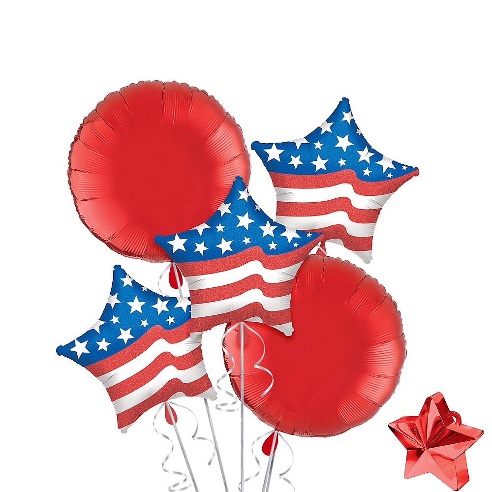 Patriotic Star Balloon Kit 7pc Image #1