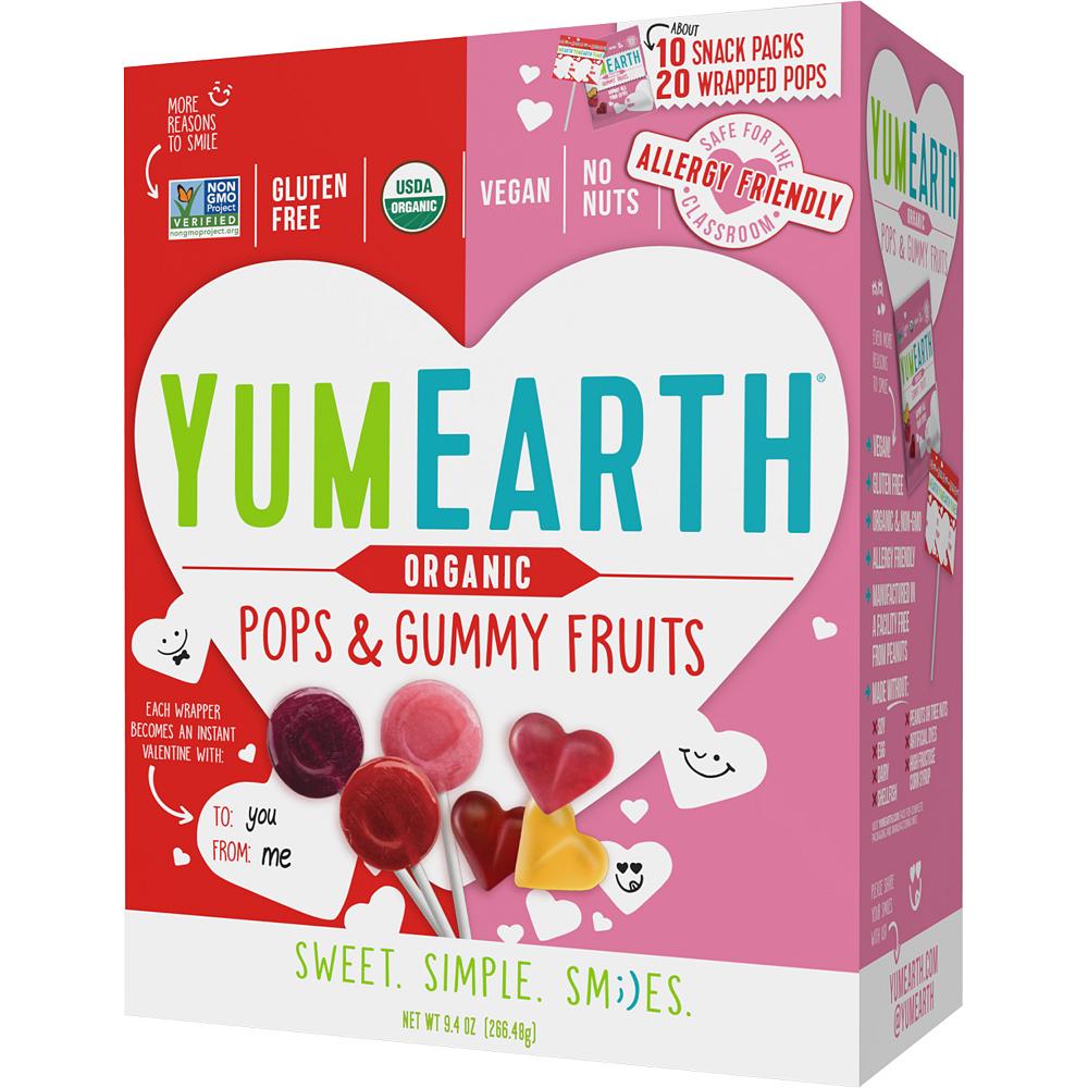 Organic Yum Earth Valentine's Day Fruit Gummies & Lollipops 30ct Image #1