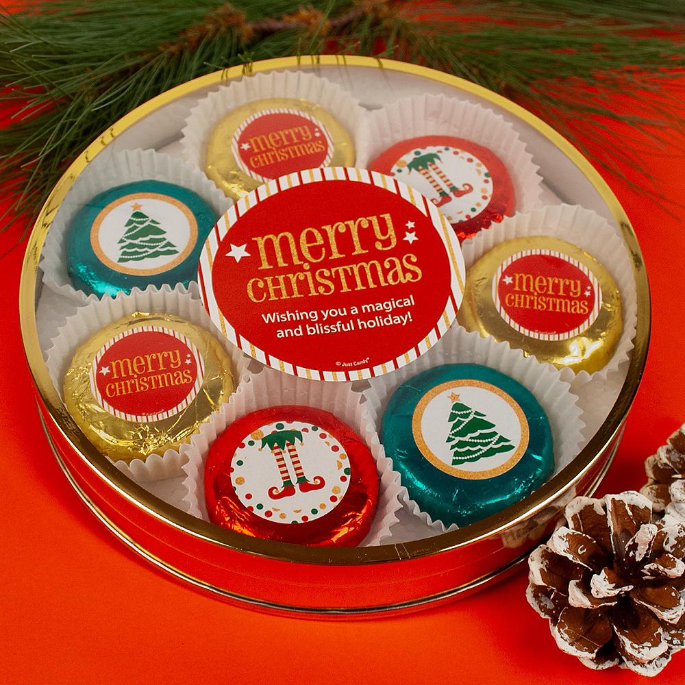 Merry Christmas Chocolate Covered Oreo Cookies 8ct Image #2