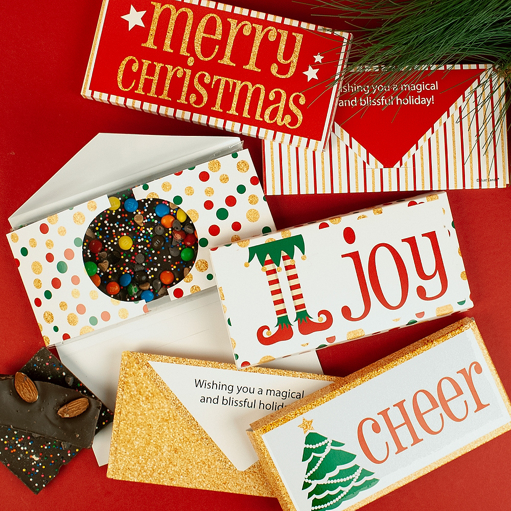 Merry Christmas Gourmet Chocolate Bars 6ct Image #3