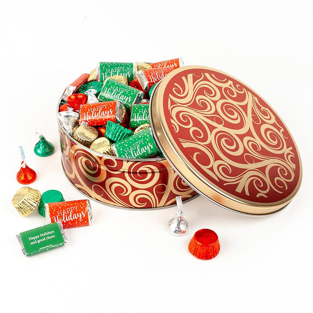 Happy Holidays Hershey's Mix Tin Image #1