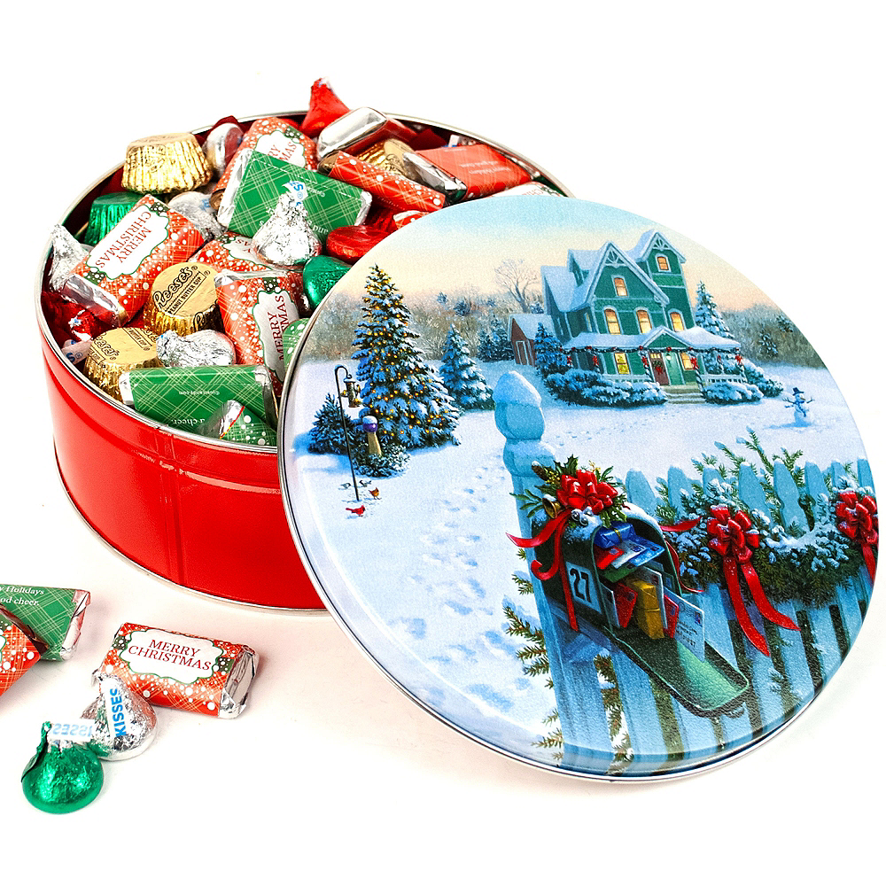 Merry Christmas Hershey's Mix Tin Image #1