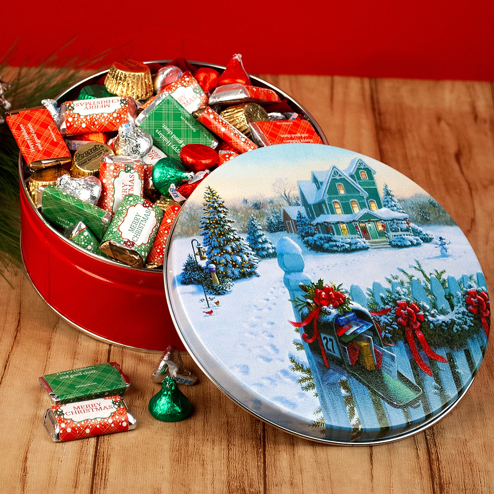 Merry Christmas Hershey's Mix Tin Image #2