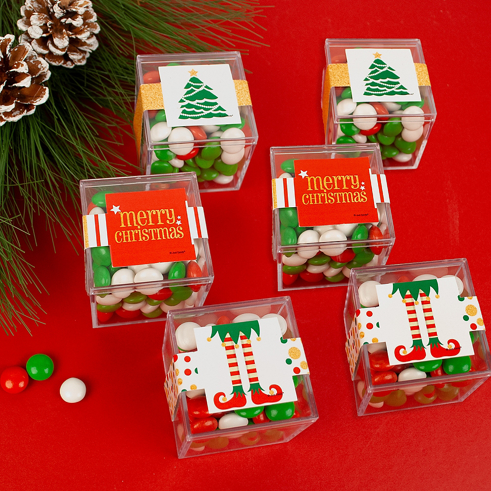 Merry Christmas Favor Cubes with Sixlets Chocolate 6ct Image #2