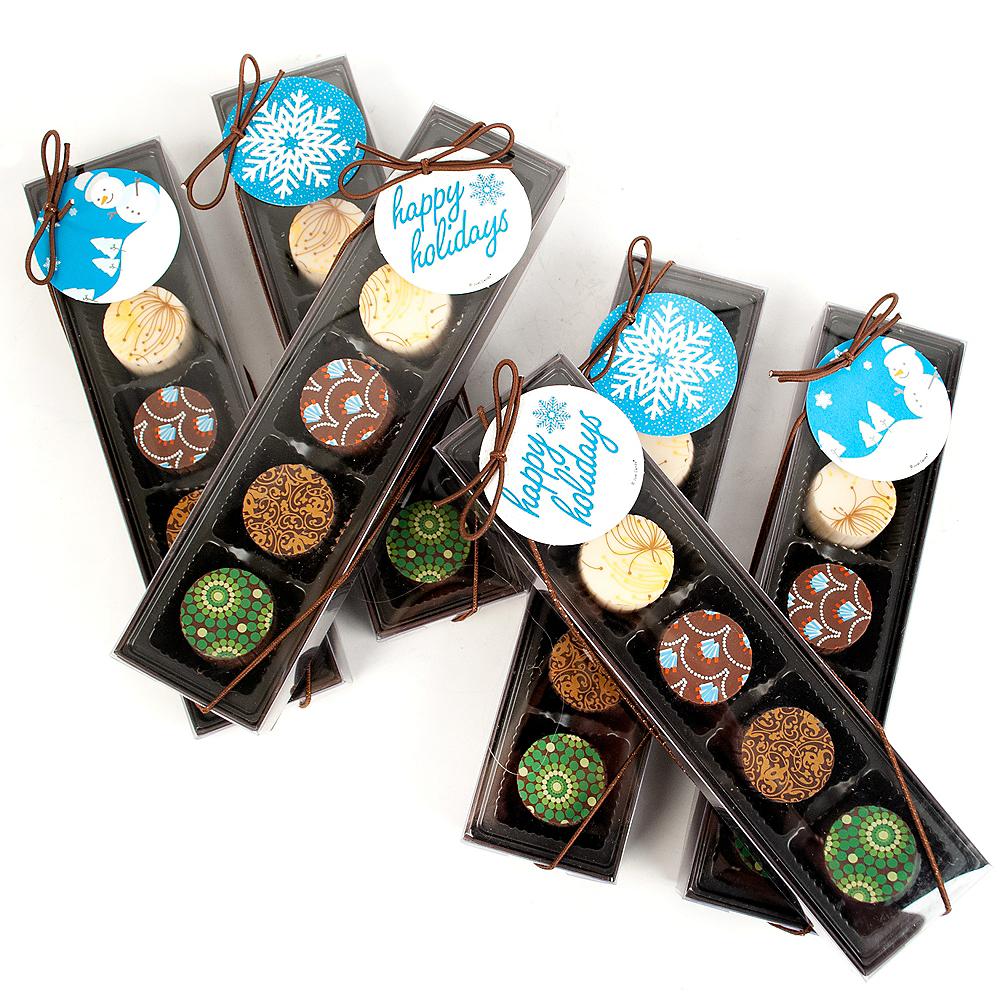 Happy Holidays Gourmet Chocolate Truffle Gift Boxes 6ct Image #1