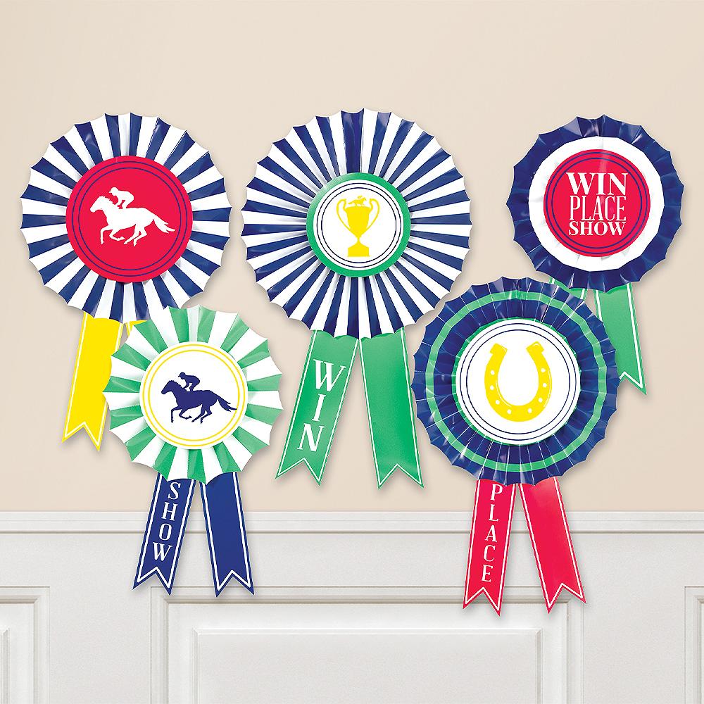 Award Ribbon Fan Decorations 6pc Image #1