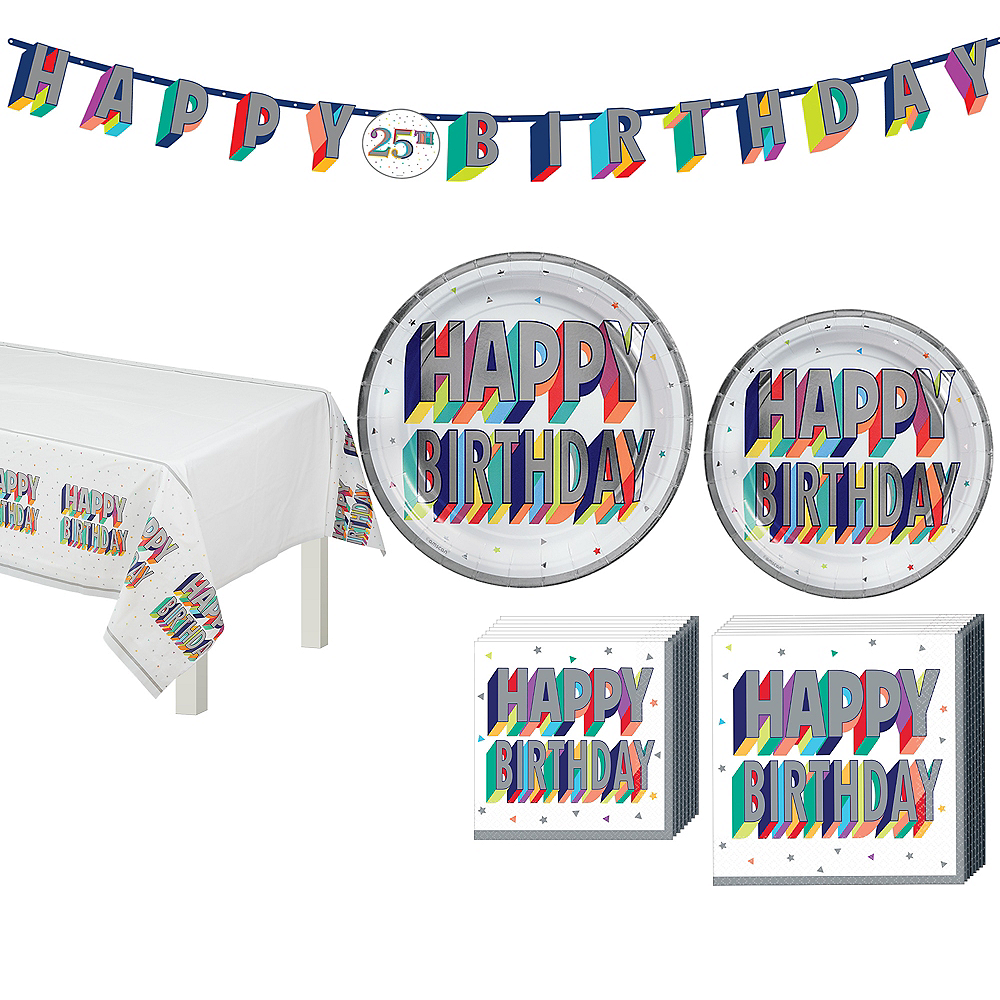 Here's to Your Birthday Tableware Kit for 32 Guests Image #1