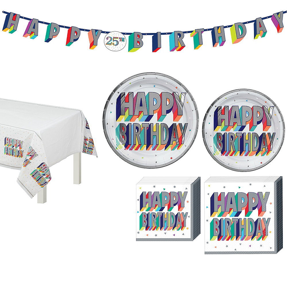 Here's to Your Birthday Tableware Kit for 8 Guests Image #1