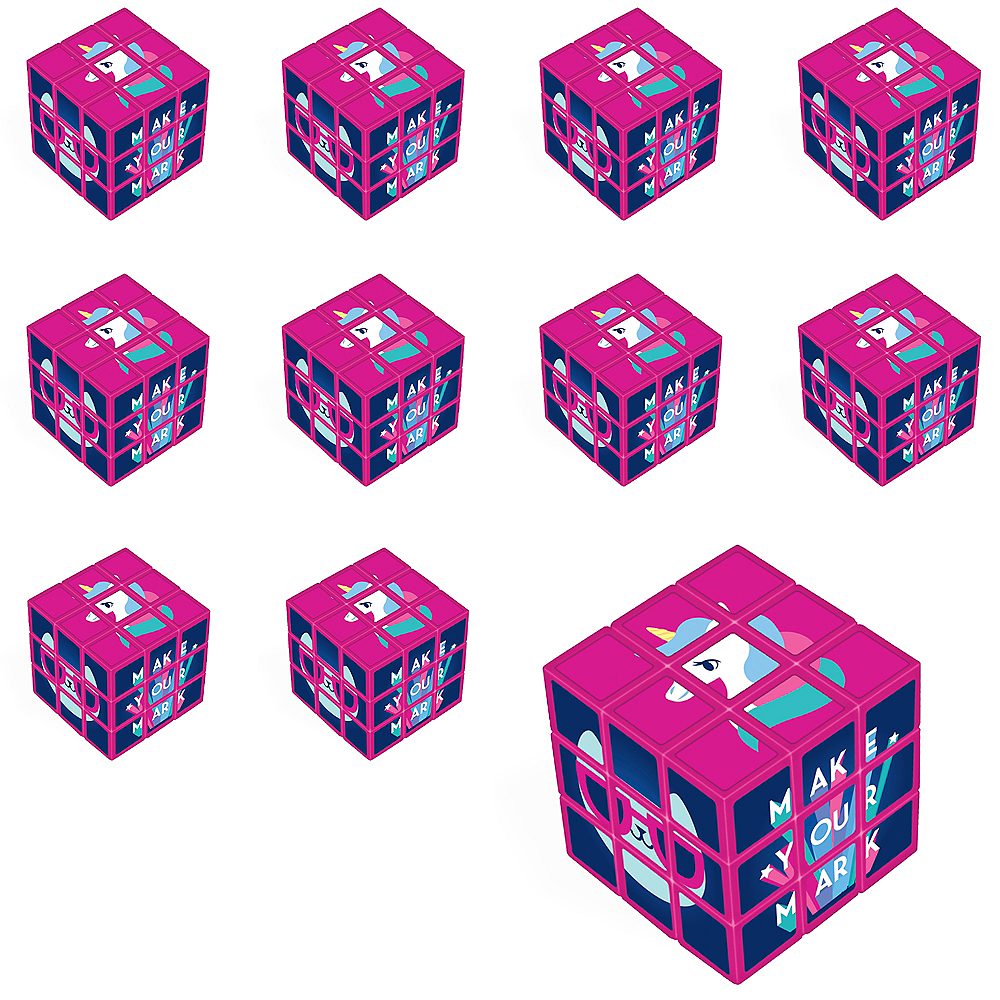 Girls Rule Puzzle Cubes 24ct Image #1