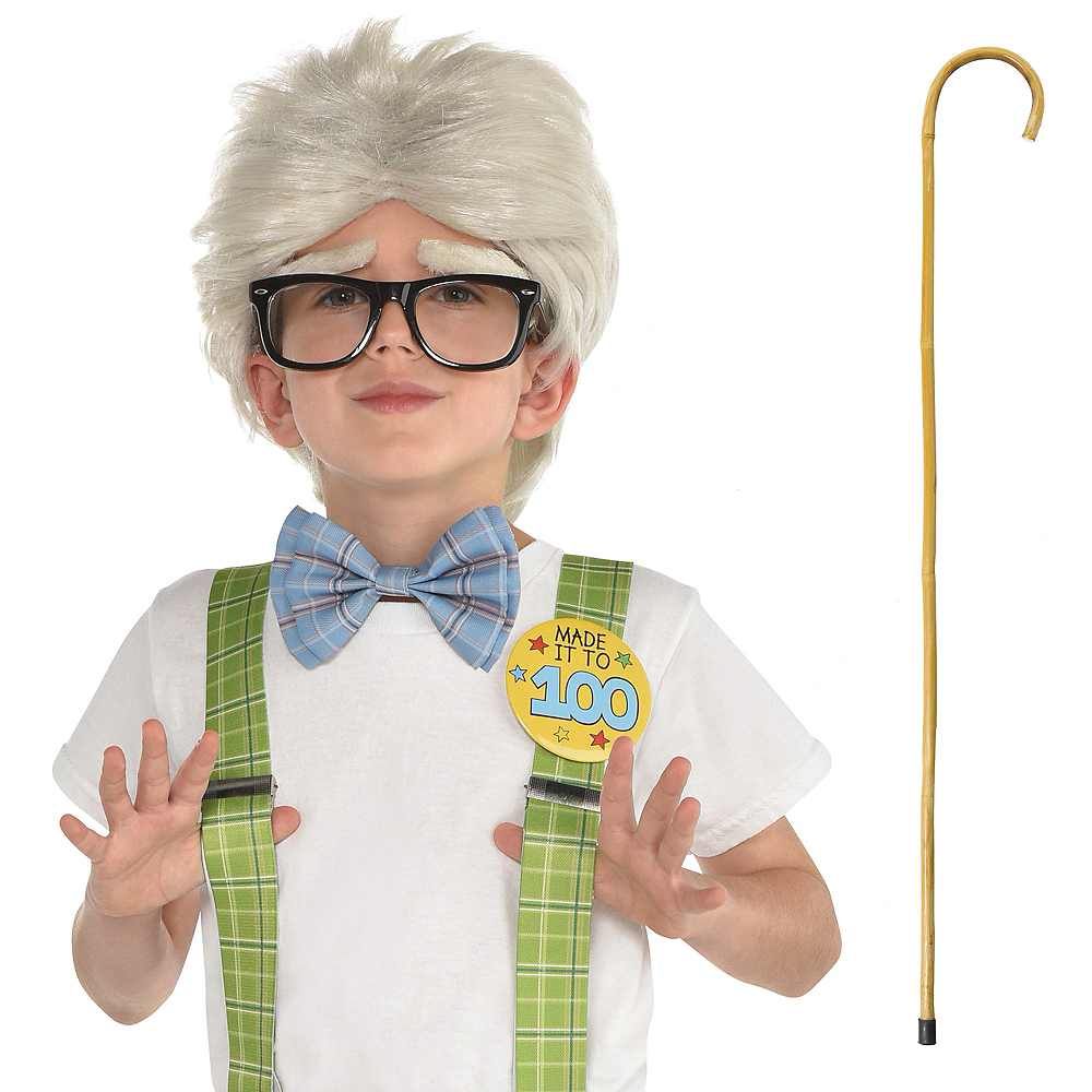 100 Days of School Grandpa Costume Accessories Image #1