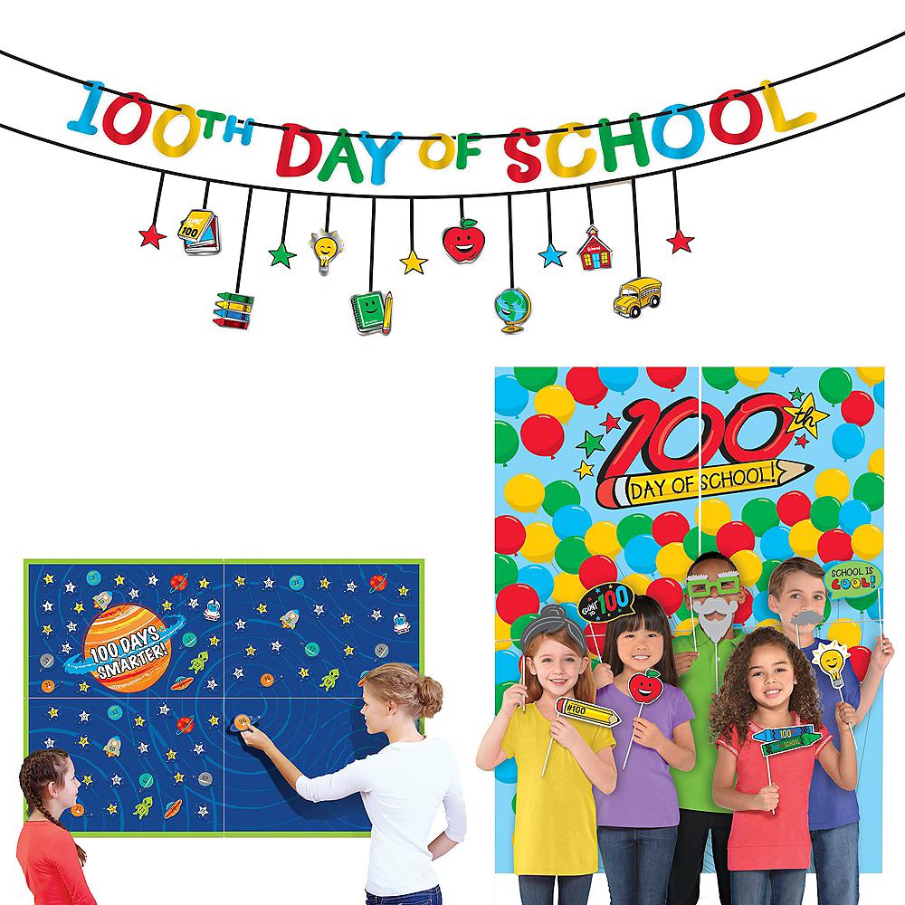 100 Days of School Classroom Decoration & Photobooth Supplies Image #1