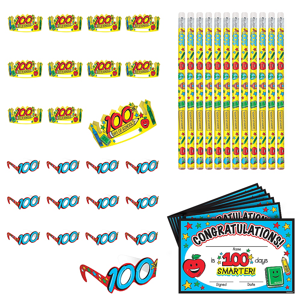 100 Days of School Classroom Party Favors 144pc Image #1