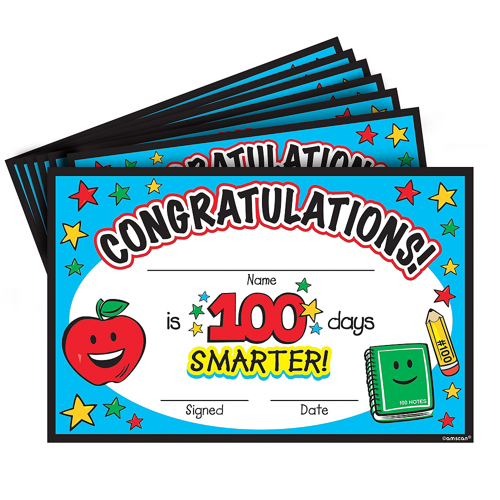100 Days of School Classroom Party Favors 144pc Image #4