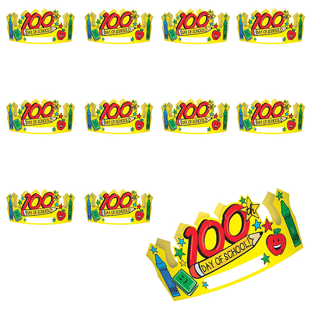 100th Day of School Crowns 36ct Image #1
