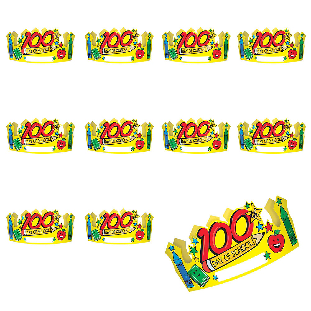 100th Day of School Crowns 36ct Image #2