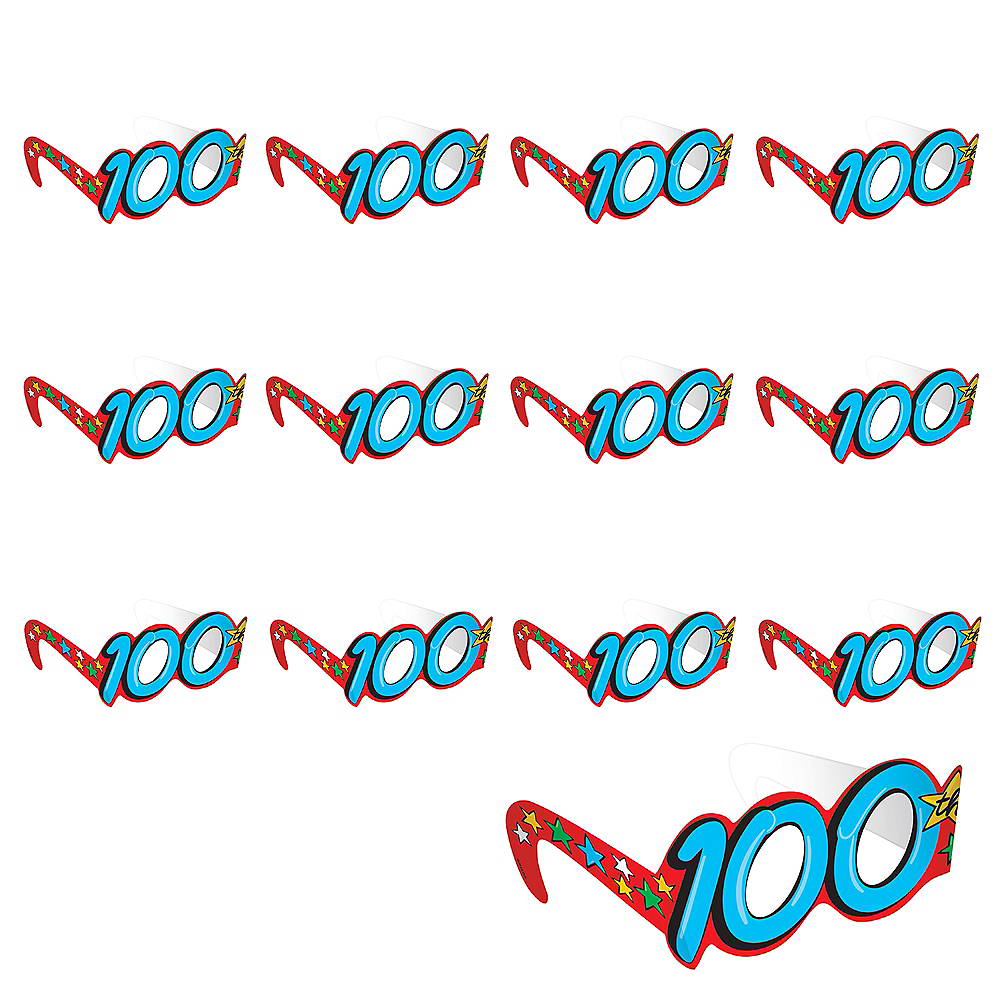 100th Day of School Glasses 36ct Image #1