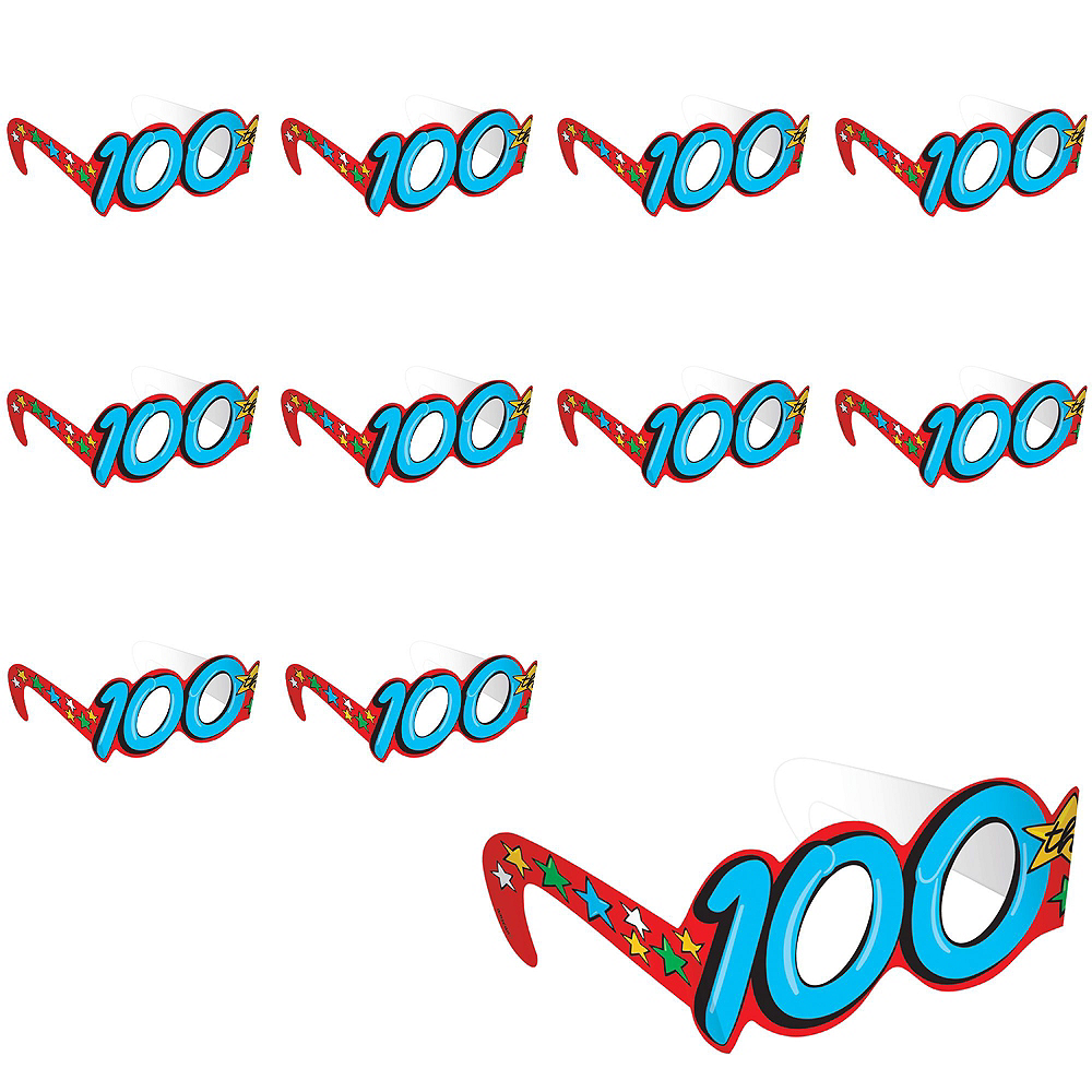 100th Day of School Glasses 36ct Image #2