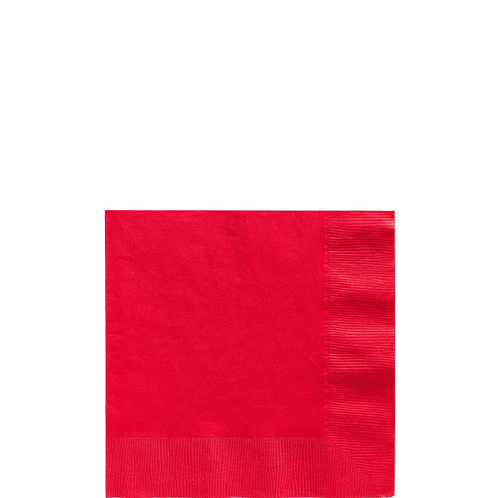 Red Paper Tableware Kit for 50 Guests Image #4