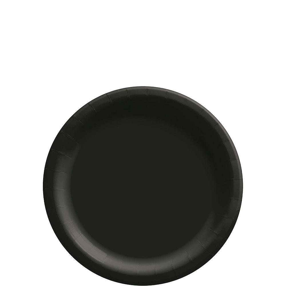 Black Paper Tableware Kit for 50 Guests Image #2